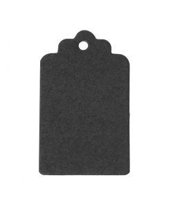 Svarta tags / Etiketter rektangulär av papper