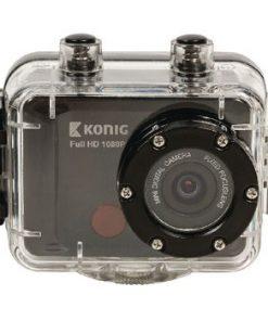 Full HD Action Kamera 1080p Vattentätt Hölje Svart