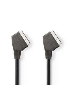SCART-kabel | SCART-hane – SCART-hane | 1.0 m | Svart