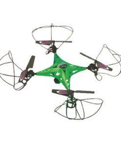 R / C Drönare CamAlu 4+5 Channel RTF / Foto / Video / Gyro inuti / Med belysning / 360 vändning / FPV 2,4 GHz-styrning Grön