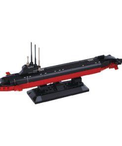 Byggblock Aircraft Carrier Serie Atomubåt
