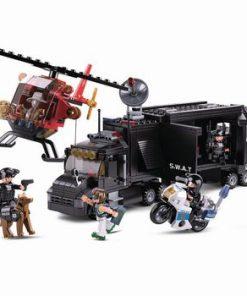 Byggblock Police Serie Mobil Kommandocentral av SWAT
