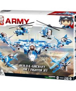 Byggblock Army Serie Armén Fighter Jet 6 in 1