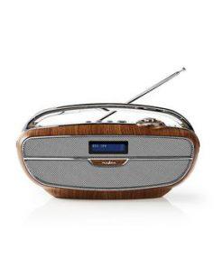 Digital DAB+-radio | 60 W | FM | Bluetooth® | Brun/silver