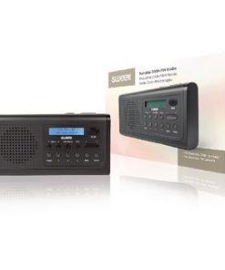 Bärbar DAB + Radio DAB+ / FM 3 W Svart