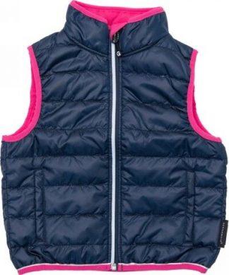 Täckväst för barn från Geggamoja rosa/mörkblå