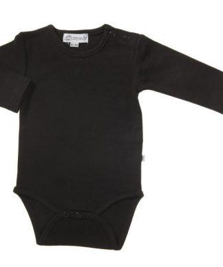 Barn - Body svart långärmad
