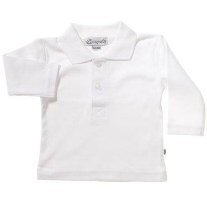T-shirt - tröja med krage -vit - barn