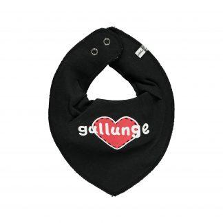 Scarf - bibs svart med texten Gullunge