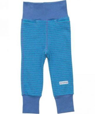 Blå mjukisbyxor från Geggamoja för barn