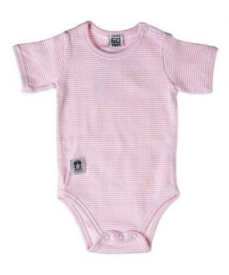 Body vit och rosa randig från Pippi