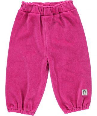 Mjukisbyxor av Velour för barn rosa