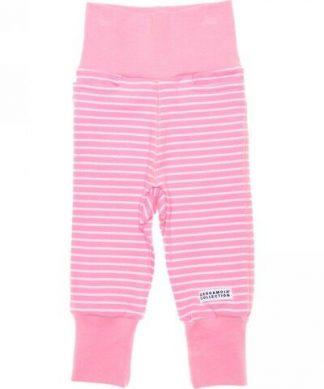 Mjukisbyxor barn rosa randig från Geggamoja