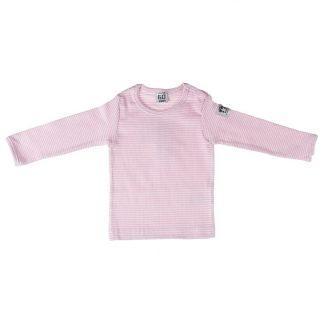 Barntröja - vit och rosa randig från Pippi