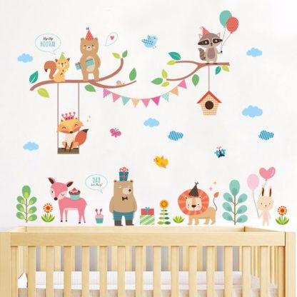 Väggdekor för barnrummet - med djur