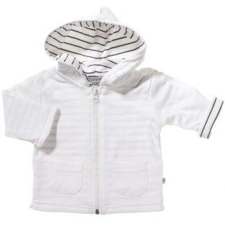 Zip jacka med huva vit - barn