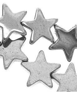 Metallpärlor stjärnor 50 stycken 6 mm