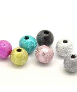 Stardust pärlor i blandade färger - 12 mm 100 st