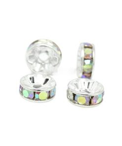 Strassrondeller - akrylpärlor 10 st 8 mm - A/B