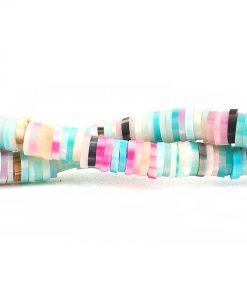 Lerpärlor - Katsuki pärlor på sträng 5 mm pastellfärger