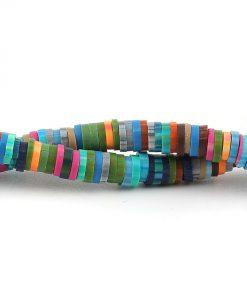 Lerpärlor - Katsuki pärlor på sträng 5 mm Multi