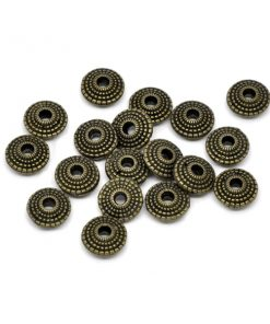 10 st metallpärlor 8 mm i brons