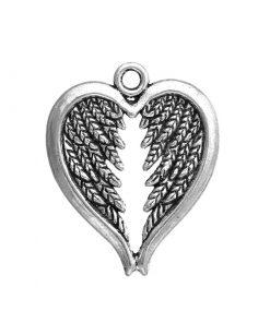 Hängsmycke - Hjärta med änglavingar