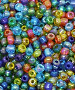 Glaspärlor - Seed beads i mixade färger 4 mm