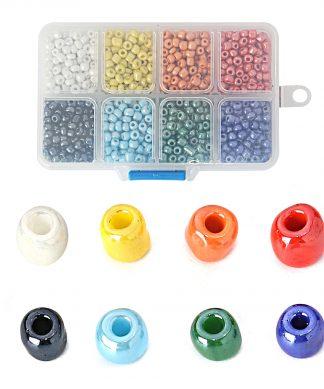 Box med mixade glaspärlor - Mix 3 - 4 mm