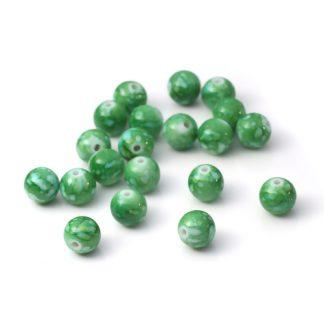grön akrylpärlor 10 mm