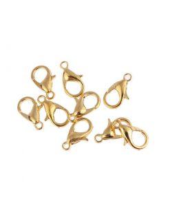 Klolås 10 st 14 mm guldpläterad