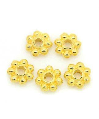 Metallpärlor guld blomma