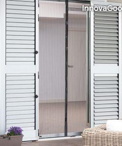 Myggnät - Insektsgardin med magnet för dörrar - svart