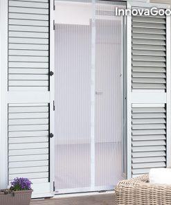 Myggnät - Insektsgardin med magnet för dörrar - Vit