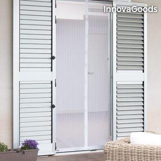 Myggnät med magnet för hem och trädgård - vit