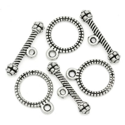 Toggle-lås / smyckeslås - Antik silver- antik