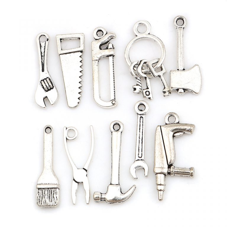 Mix av hängen till smycketillverkning 10 st - verktyg