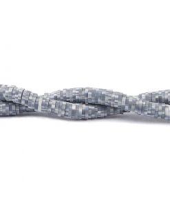 Lerpärlor - Katsuki pärlor på sträng 6 mm - Grå