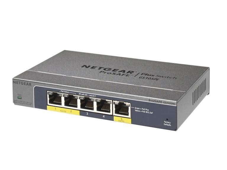 Netgear Prosafe GS105PE PoE+ Switch