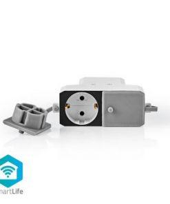 Wi-Fi smart grenuttag för utomhusbruk   2x Schuko typ F   Väderbeständig   IP55   16 A