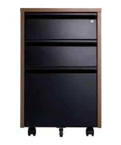 iiglo Ergo cabinet 3 drawer black/tree