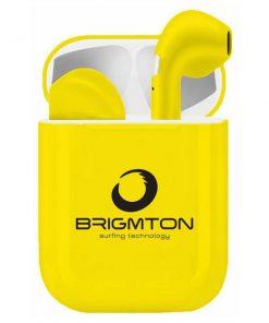 Bluetooth hörlurar med mikrofon Brigmton - gul