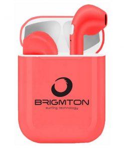 Bluetooth hörlurar med miktofon BML-18 - röd