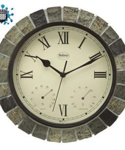 Balance | Wall Clock | Splash Proof | 30 cm | Stone Look