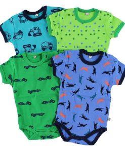 Bodies barn - 4 pack i olika färger - Pippi