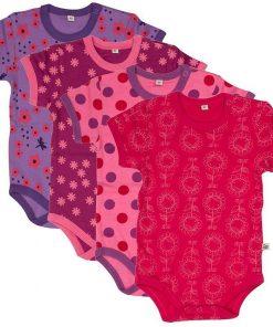 Bodies för barn - 4 pack i olika färger - Pippi