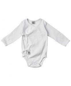 Långärmad vit body för barn