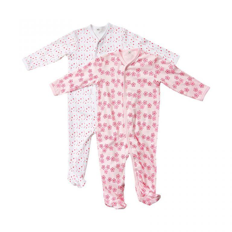 2 pack pyjamas från Pippi - rosa