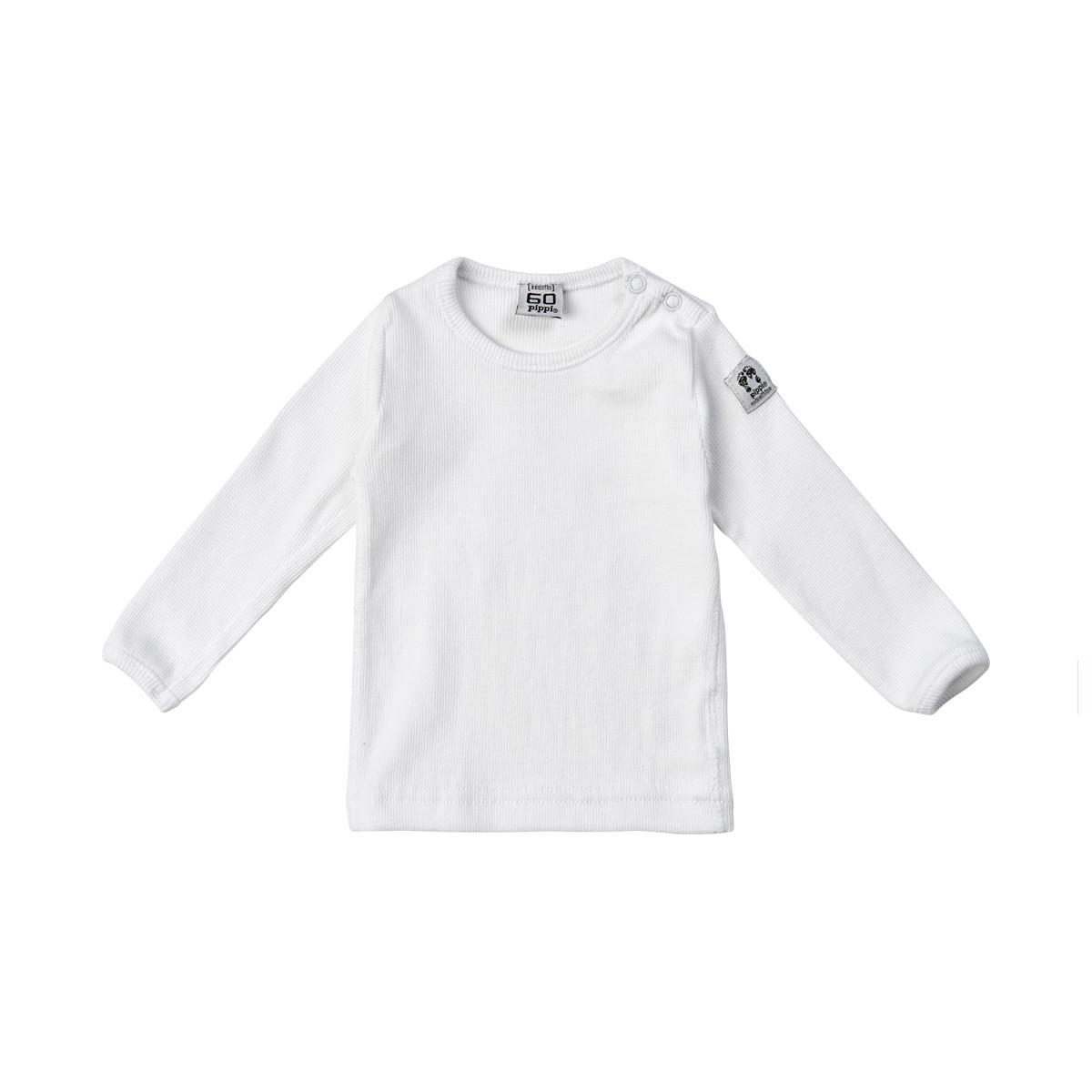 Långärmad vit t shirt för barn Pippi