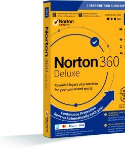 Symantec Norton 360 Deluxe - 1 anv 5 enheter - 50GB - 1 år